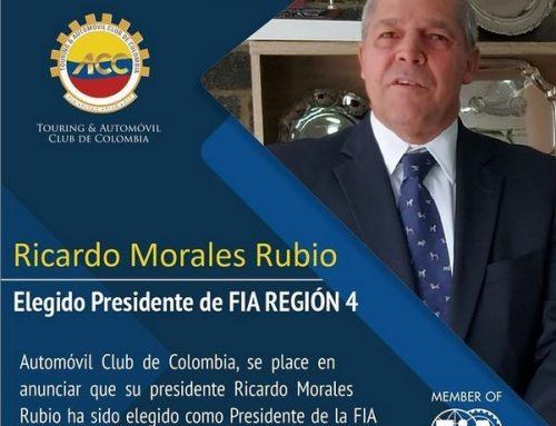 Ricardo Morales elegido Presidente de  FIA- REGIÓN 4